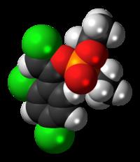 Spac-satiga modelo de la (Z) chlorfenvinphos molekulo
