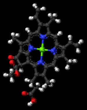 Chlorophyll c - Image: Chlorophyll c 2 3D balls