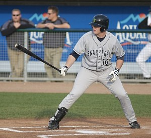 Beloit Snappers - Chris Parmelee with the Snappers in 2008