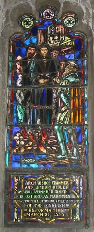 Oxford Martyrs - Image: Christ Church (Episcopal), Little Rock window