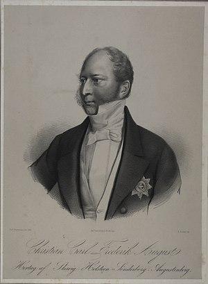 Christian August II, Duke of Schleswig-Holstein-Sonderburg-Augustenburg - Image: Christian August af Augustenborg