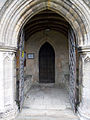 Church of St Andrew, Boothby Pagnell, Lincolnshire, England - Nave south door.jpg