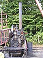 Clayton & Shuttleworth 3NHP portable engine 44141 'Olive' (1911) on big wheel, Hollycombe, Liphook 3.8.2004 P8030101 (10353637466).jpg