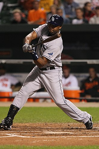 Cliff Floyd - Floyd batting for the Rays on September 22, 2008