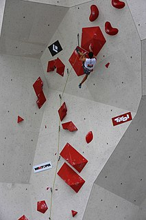 Lead climbing Competitive discipline of sports climbing
