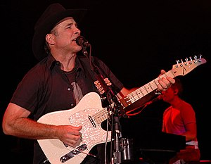 Clint Black performing at a benefit concert fo...