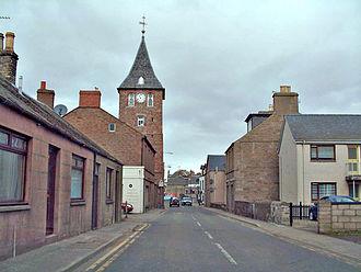 Coupar Angus - Clock tower in Coupar Angus. Photo:James Allen