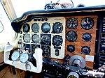 Cockpit of Beechcraft G35, HB-EBG in Ecuvillens, LSGE, Switzerland.jpg