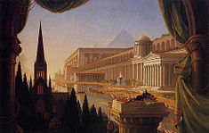 The dream of the architect, oil on canvas, 1840. Works of Thomas Cole (Toledo Museum of Art in Toledo (Ohio) USA).