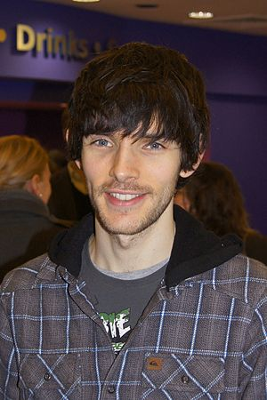 English: Actor Colin Morgan after the premiere...