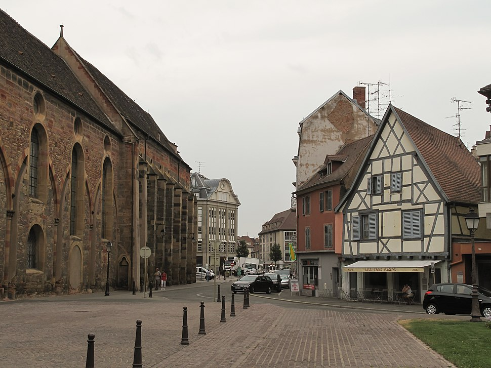 Colmar straatzicht bij Ancien Couvent des Catherinettes foto1 2013-07-24 10.59