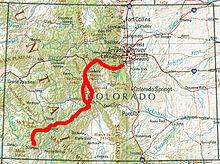 Cdt Colorado Map.Colorado Trail Wikipedia