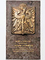 Commemorative plaque of the Saint Francis church in Warsaw - 01.jpg