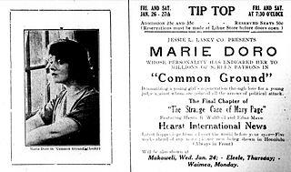 <i>Common Ground</i> (1916 film) 1916 silent film drama by William C. deMille