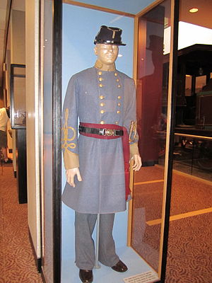 Atlanta Cyclorama & Civil War Museum - The uniform of a Confederate general