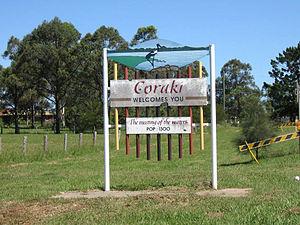 Coraki, New South Wales - Image: Coraki welcome