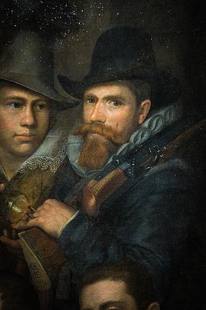 Cornelis Engelsz - Presumed selfportrait of Cornelis Engelsz, 1612 – Coll. of Musée des Beaux-Arts de Strasbourg