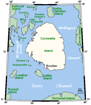 Cornwallis Island (Nunavut) - Closeup of Cornwallis Island