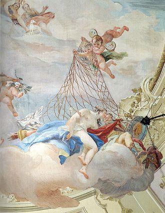 Costantino Cedini - Venus and Mars Surprised by a Net, in the Palazzo Emo-Capodilista, Padua