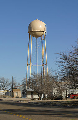 Tower holding water from the Ogallala Aquifer