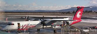 Washington State University - Horizon Air Q400 in unique WSU livery