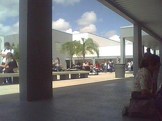 Dr. Michael M. Krop High School - Image: Courtyard, Dr. Michael M. Krop High School, Florida (October 9 2007)