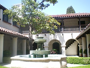 Workman and Temple Family Homestead Museum - Image: Courtyard at Temple Mansion, City of Industry