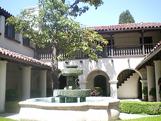 City of Industry, California - Image: Courtyard at Temple Mansion, City of Industry