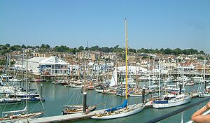 Cowes - Cowes marina.