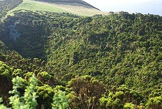 Bocas de Fogo - Close-up of the Urzelina crater, referred to as the Bocas de Fogo da Urzelina