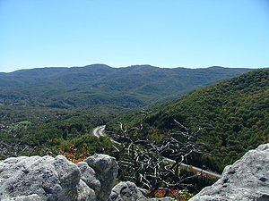 Cumberland Mountains - View of Cross Mountain in Tennessee