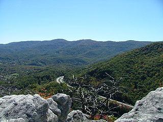 Cumberland Mountains mountain range