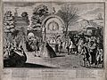 Crowds of old and infirm people arrive at the fountain of yo Wellcome V0016697.jpg