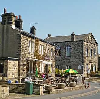 Addingham - The Crown Inn, located on the intersection between Main Street and Bolton Road