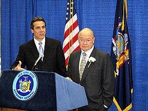 Andrew Cuomo - Cuomo with Representative Gary Ackerman