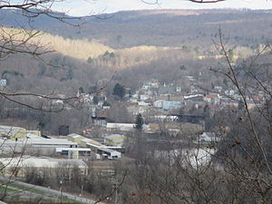 Curwensville, Pennsylvania - View of Curwensville looking northwest