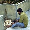 Cutting fresh coconuts (6627588369).jpg