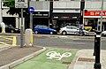 Cycle lane markings, Belfast - geograph.org.uk - 1920846.jpg