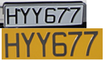 Cyprus license plate 1980 front and rear.png