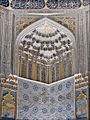 Décor intérieur du mausolée de Chirin Bika Aka (Shah-i-Zinda, Samarcande) (6009388163).jpg
