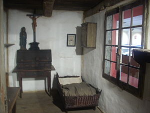 Anne Catherine Emmerich - The reconstruction of Emmerich's room with the original furniture, at the Holy Cross church in Dülmen, Germany