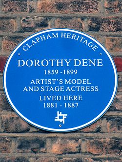 Dorothy dene 1859   1899 artist%27s model and stage actress lived here 1881   1887