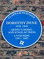 DOROTHY DENE 1859 - 1899 ARTIST'S MODEL AND STAGE ACTRESS LIVED HERE 1881 - 1887.jpg