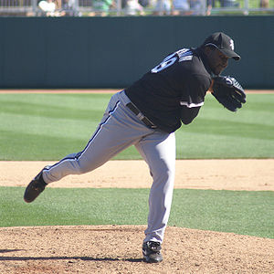 Franklyn Germán - Germán with the Chicago White Sox in spring training in 2009