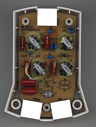 DSL filter - Circuit of a DSL filter/splitter
