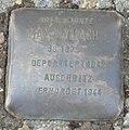 Dachau Stolperstein Wallach, Max.jpg