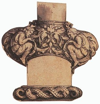 Bollock dagger - Image: Dagger guard, design by Hans Holbein the Younger
