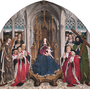 Lluís Dalmau - Virgin of the «Consellers», ca. 1443-1445, now in the Museu Nacional d'Art de Catalunya.