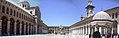 Damaskus, Omayadenmoschee, Ansichten vom Moscheehof mit weissem Marmor und Arkaden und dem Glockenhaus (37819476455).jpg