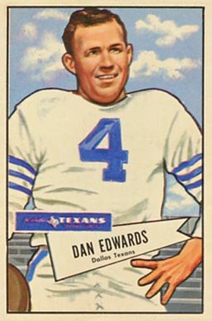 Dan Edwards - Edwards on a 1952 Bowman football card